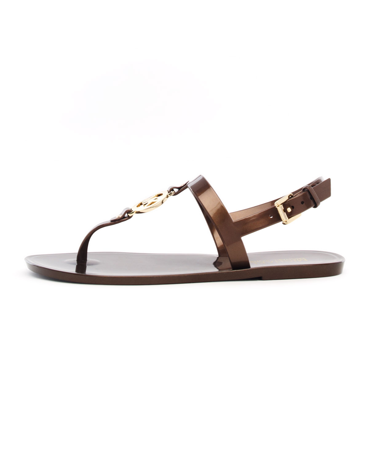 af119ef5e Lyst - Michael Kors Sondra Mk Jelly Thong Sandal in Brown