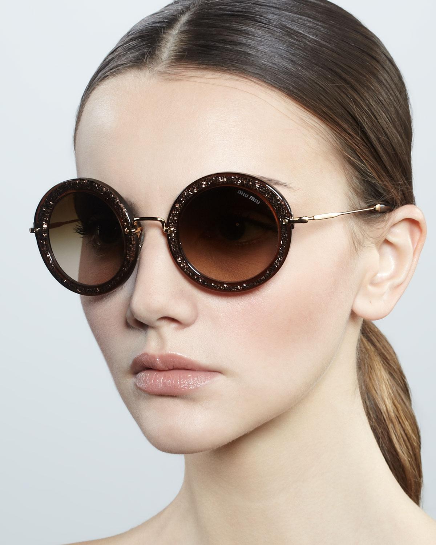 double framed sunglasses - Metallic Miu Miu Eyewear CUwEgYri