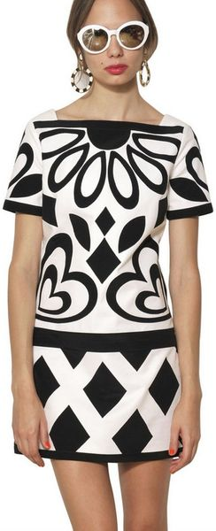 Moschino Appliqué Stretch Cotton Dress - Lyst
