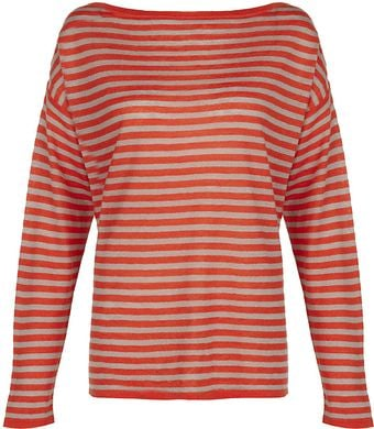Nicole Farhi Linen Wool Striped Jumper - Lyst