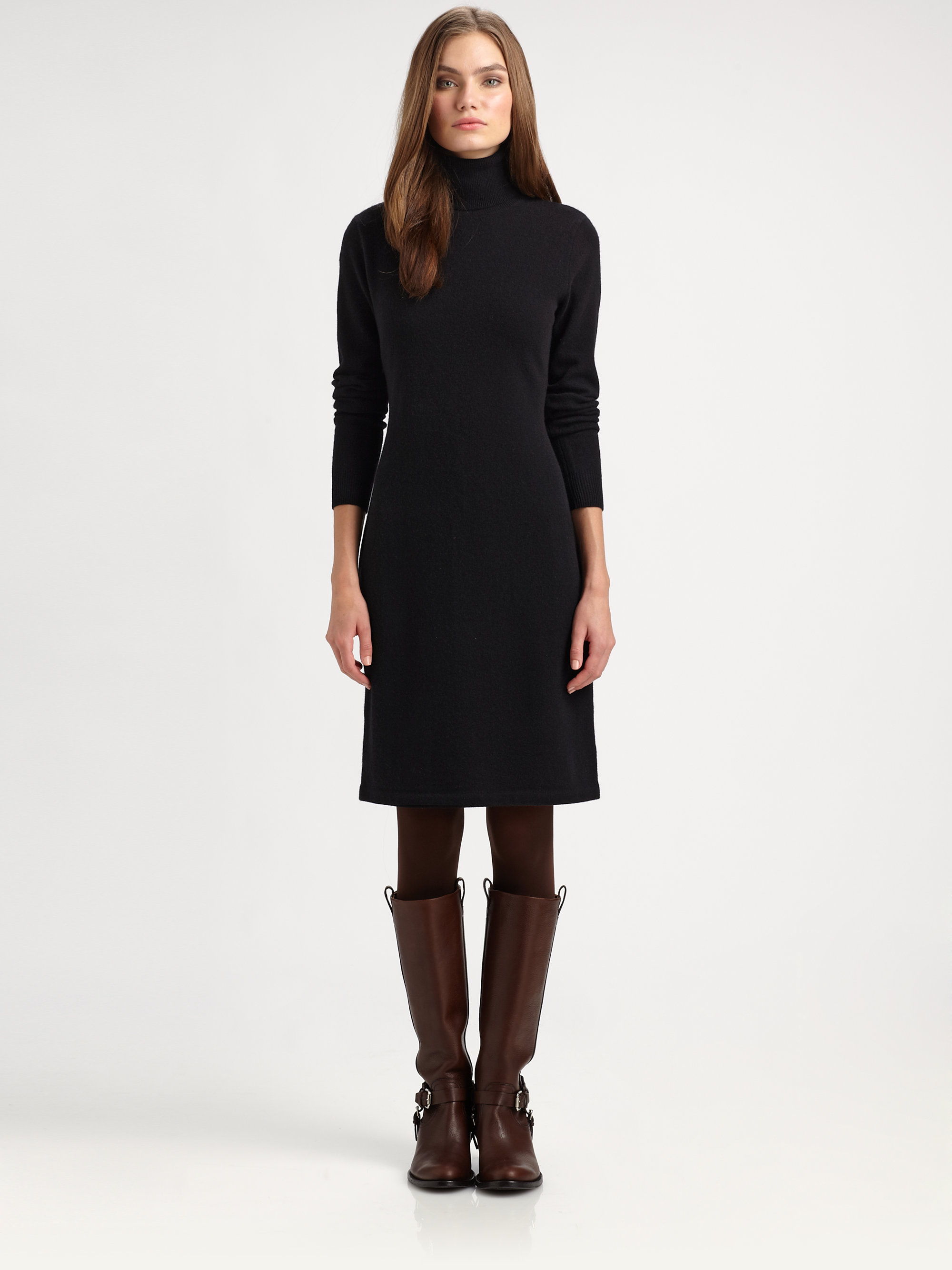 Lyst Ralph Lauren Blue Label Woolcashmere Sweater Dress