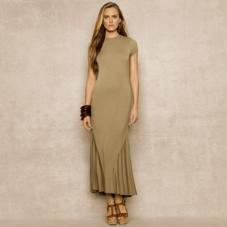 Jersey Dress on Ralph Lauren Blue Label Tshirt Jersey Maxidress In Brown  Potomac Tan