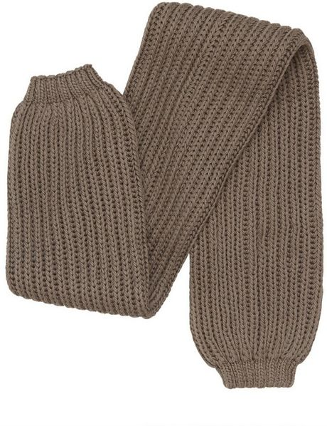 Rick Owens Thick Cotton Ribbed Knit Leg Warmers In Brown ...