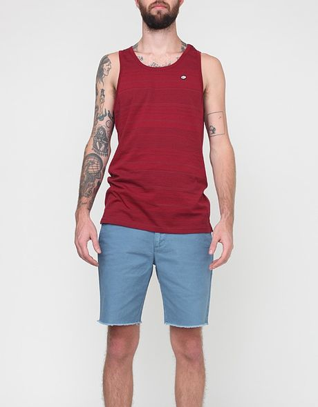 Rvca Crindle Tank in Red for Men (red grease) - Lyst