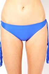Seafolly Jazz Club Hipster Tie Side Bikini Pant in Blue (electricblue) - Lyst