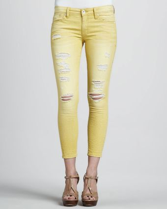 Sinclair Fisk Destroyed Cropped Jeans - Lyst
