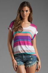 Splendid Watercolor Stripe Tee - Lyst