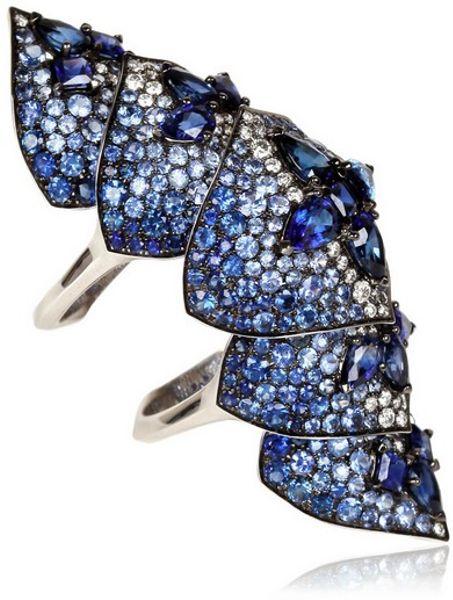 Stephen Webster Belle Epoque Ring In Blue Black Gold Lyst