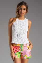 Trina Turk Ray Bay Crochet Top - Lyst