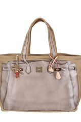 V73 Big Printed Canvas Tote Bag - Lyst