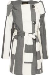 Vivienne Westwood Anglomania Striped Trench Coat - Lyst
