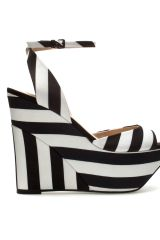 Zara Fabric Wedge Shoe