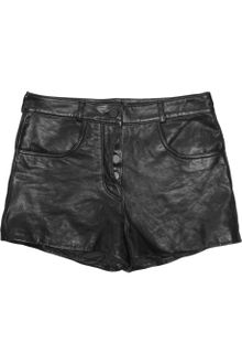 Alexander Wang Leather Shorts - Lyst