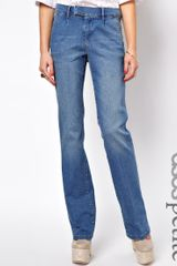 Gossard Asos Petite Tailored Wide Leg Jean in Vintage Wash - Lyst