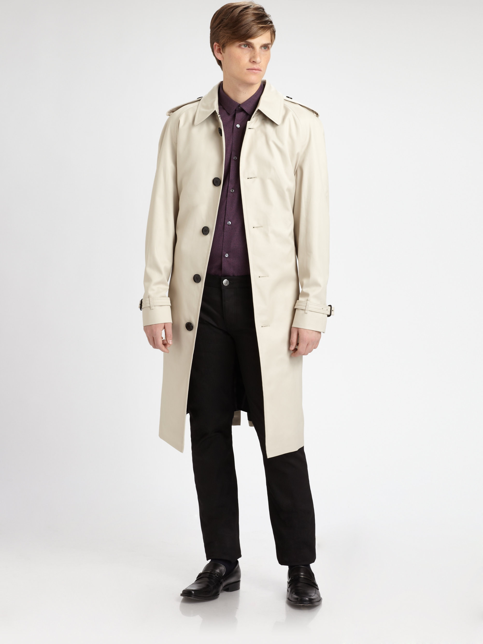 Lyst Burberry Trench 19 Long Raincoat In Natural For Men