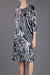 By Malene Birger Loose Fit Print Dress in Black - Lyst