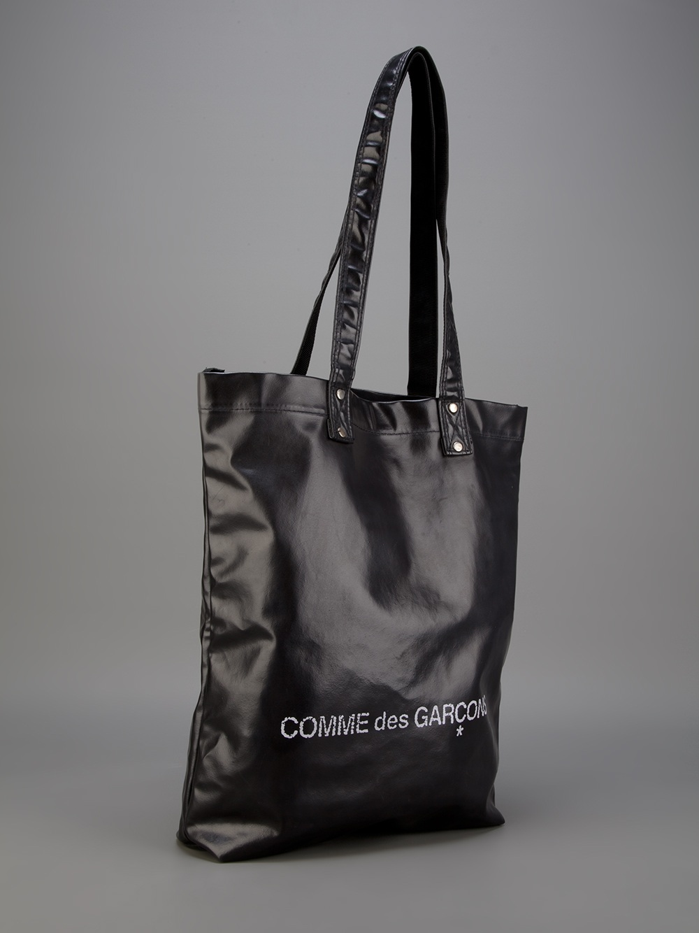 Comme Des Gar 231 Ons Logo Tote Bag In Black For Men Lyst