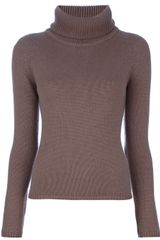 Cruciani Ribbed Roll Neck Jumper - Lyst