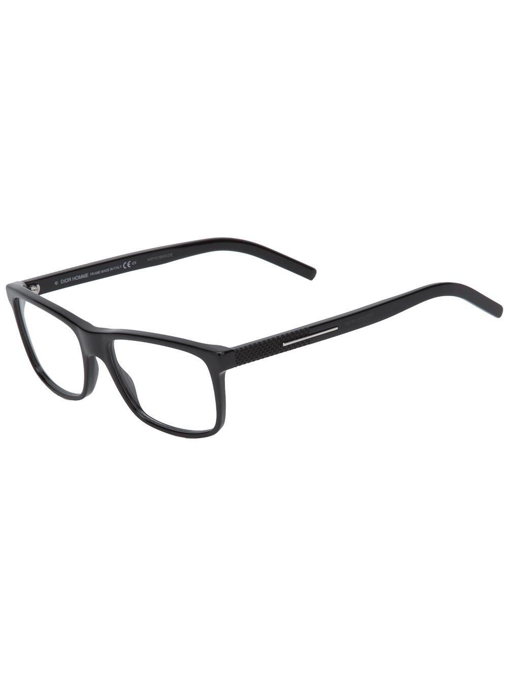 Dior Black Frame Glasses : Dior Homme Square Frame Glasses in Black for Men Lyst