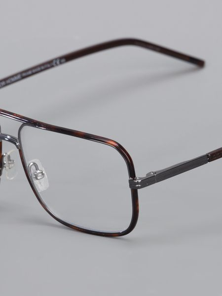 Dior Homme Rectangular Frame Glasses in Transparent for ...