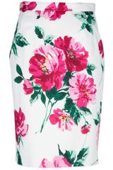 Dolce & Gabbana Floral Pencil Skirt - Lyst