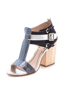 Elizabeth And James Carri Chunky Heel Sandals - Lyst