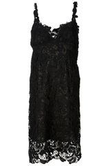 Ermanno Scervino Embroidered Lace Dress in Black - Lyst