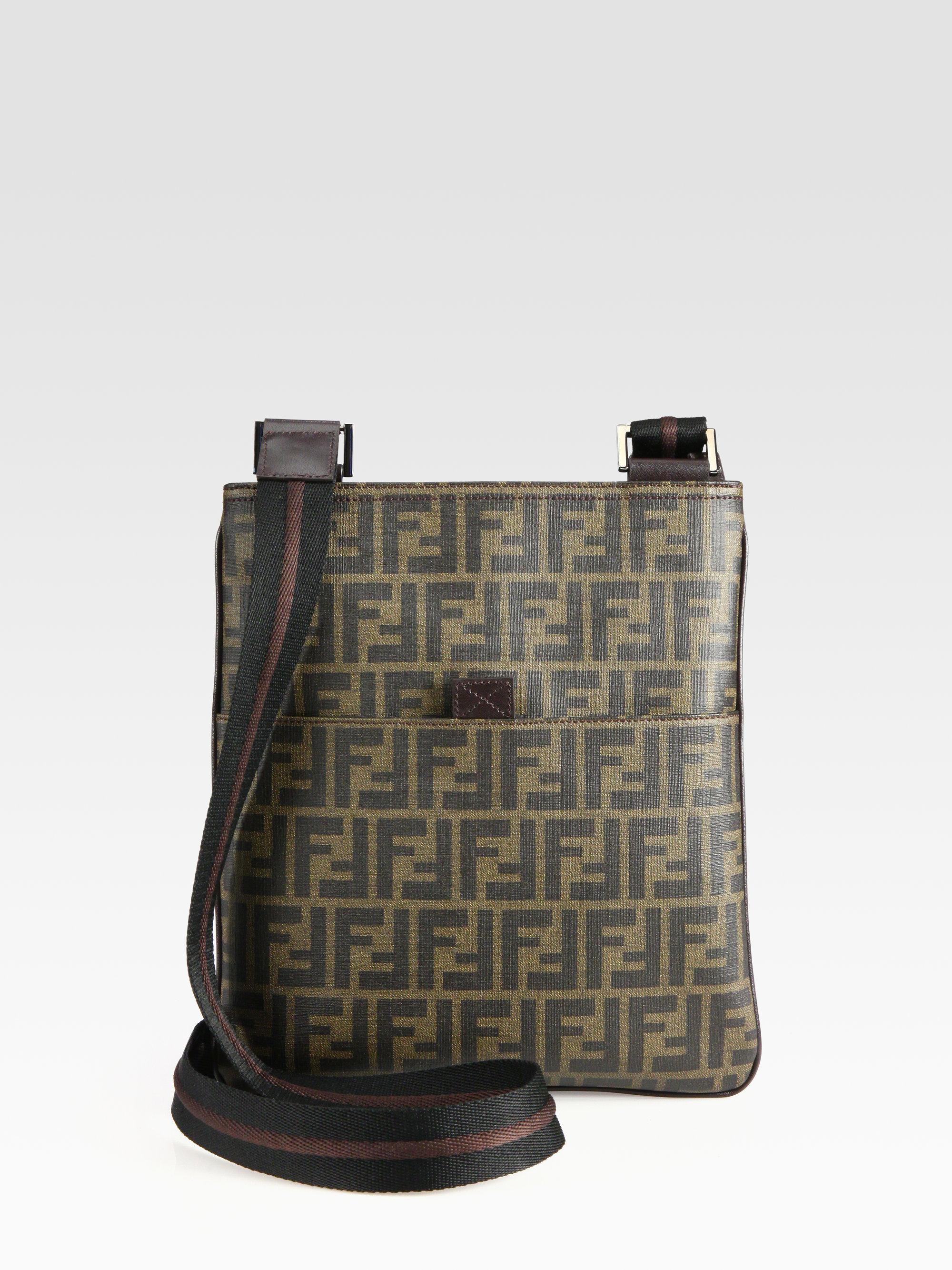 dac69066d40 ... uk lyst fendi zucca small messenger bag in brown for men 7505a 39a15 sweden  fendi zucca mini chef shoulder bag no minimum price ...