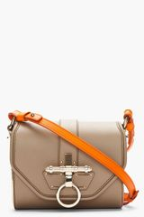 Givenchy Taupe Leather Goldtrimmed Obsedia Shoulder Bag - Lyst