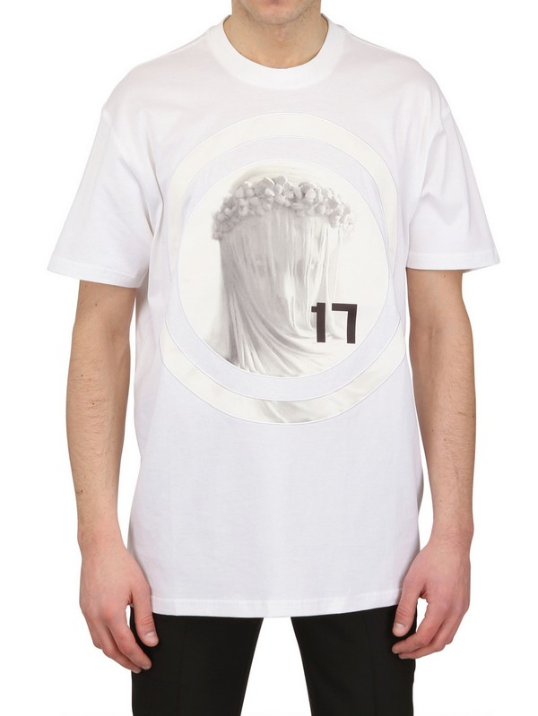 givenchy madonna jersey satin oversized tshirt in white for men lyst. Black Bedroom Furniture Sets. Home Design Ideas