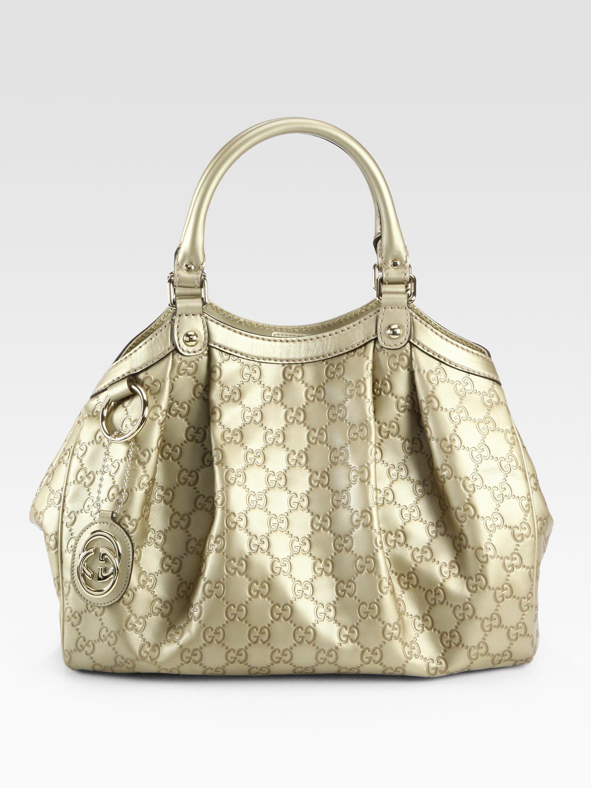 4c18c9f3b47c Gucci Sukey Medium Guccissima Tote Bag in Metallic - Lyst