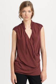 Helmut Lang Gathered Shroud Top - Lyst