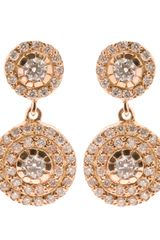 Ileana Makri Double Solitaire 18k Gold and Diamond Earrings - Lyst