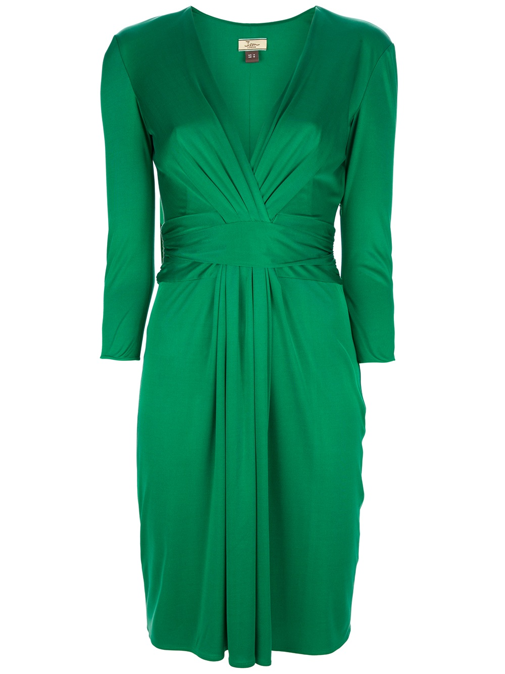 issa drape dress in green lyst