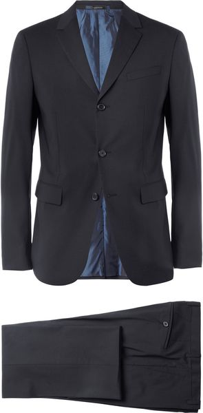 Jil Sander Navy Slim Fit Wool Blend Suit in Blue for Men - Lyst