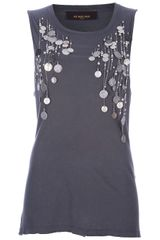 Jo No Fui Embellished Vest Top - Lyst