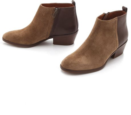 madewell low heel ankle boots in brown cigar lyst