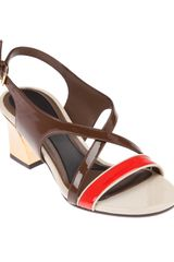 Marni Colour Block Sandal Pump - Lyst