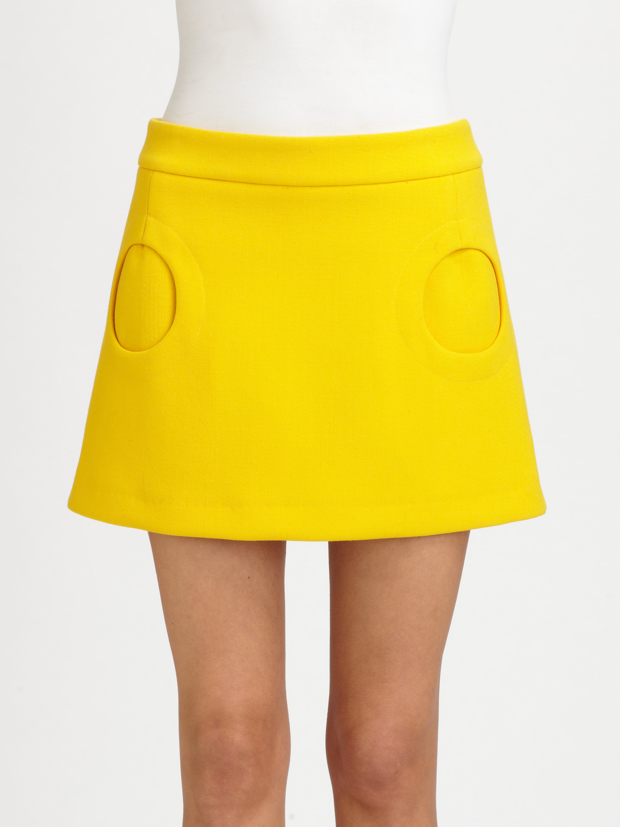 Mi Ni Clips: Michael Kors Circle Pocket Mini Skirt In Yellow