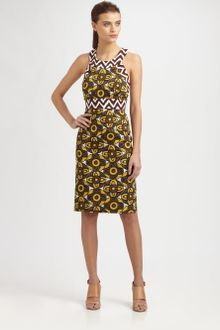 Milly Tribal Print Halter Dress - Lyst