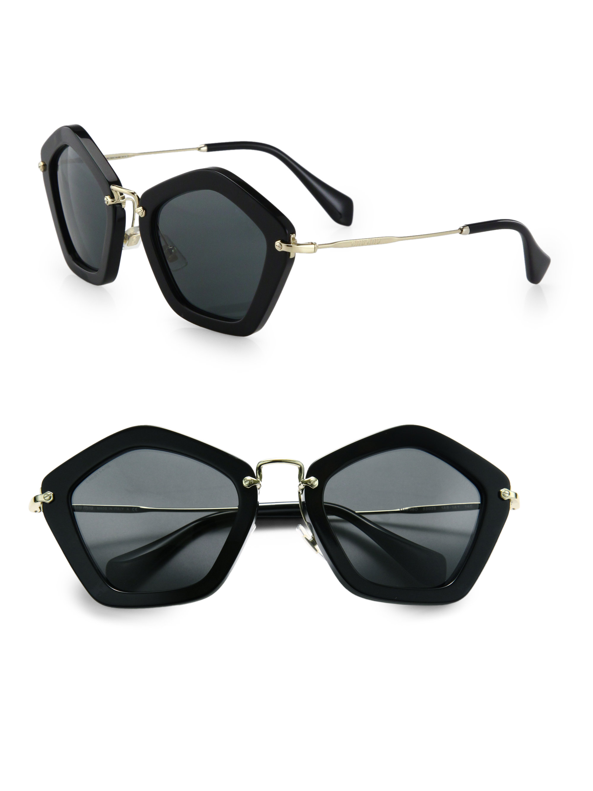 lyst miu miu extreme star sunglasses in black. Black Bedroom Furniture Sets. Home Design Ideas