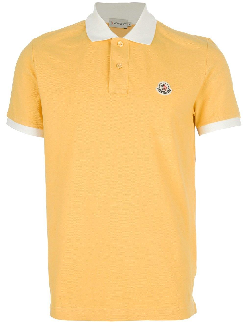 moncler yellow polo