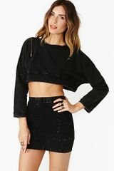 Nasty Gal Hot Asphalt Crop Knit - Lyst