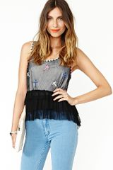 Nasty Gal Ruffled Cross Tank - Lyst