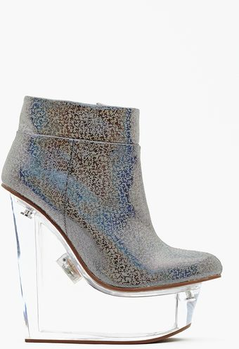 Nasty Gal Icy Light Wedge Boot - Lyst