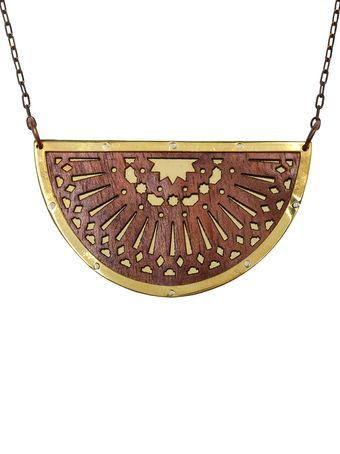Pamela Love Zellij Wood and Brass Necklace - Lyst