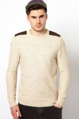 River Island Tim Crew Neck Jumper with Epelettes - Lyst