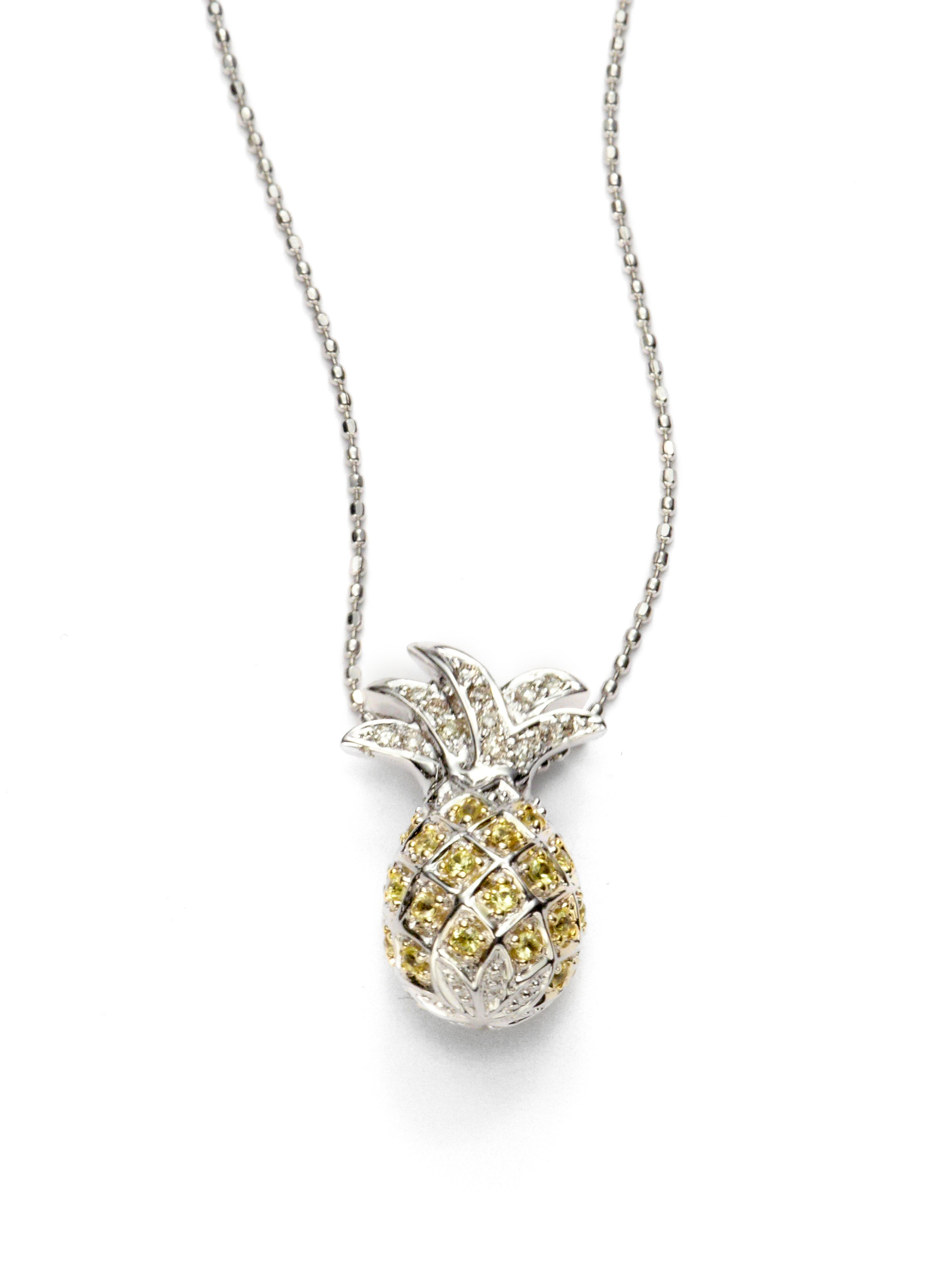 in pendant gold pendants necklace pineapple jewelry yellow shop pineapples online collections