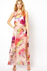 Ted Baker Twist Back Maxi Cover Up in Multicolor (multifloral) - Lyst