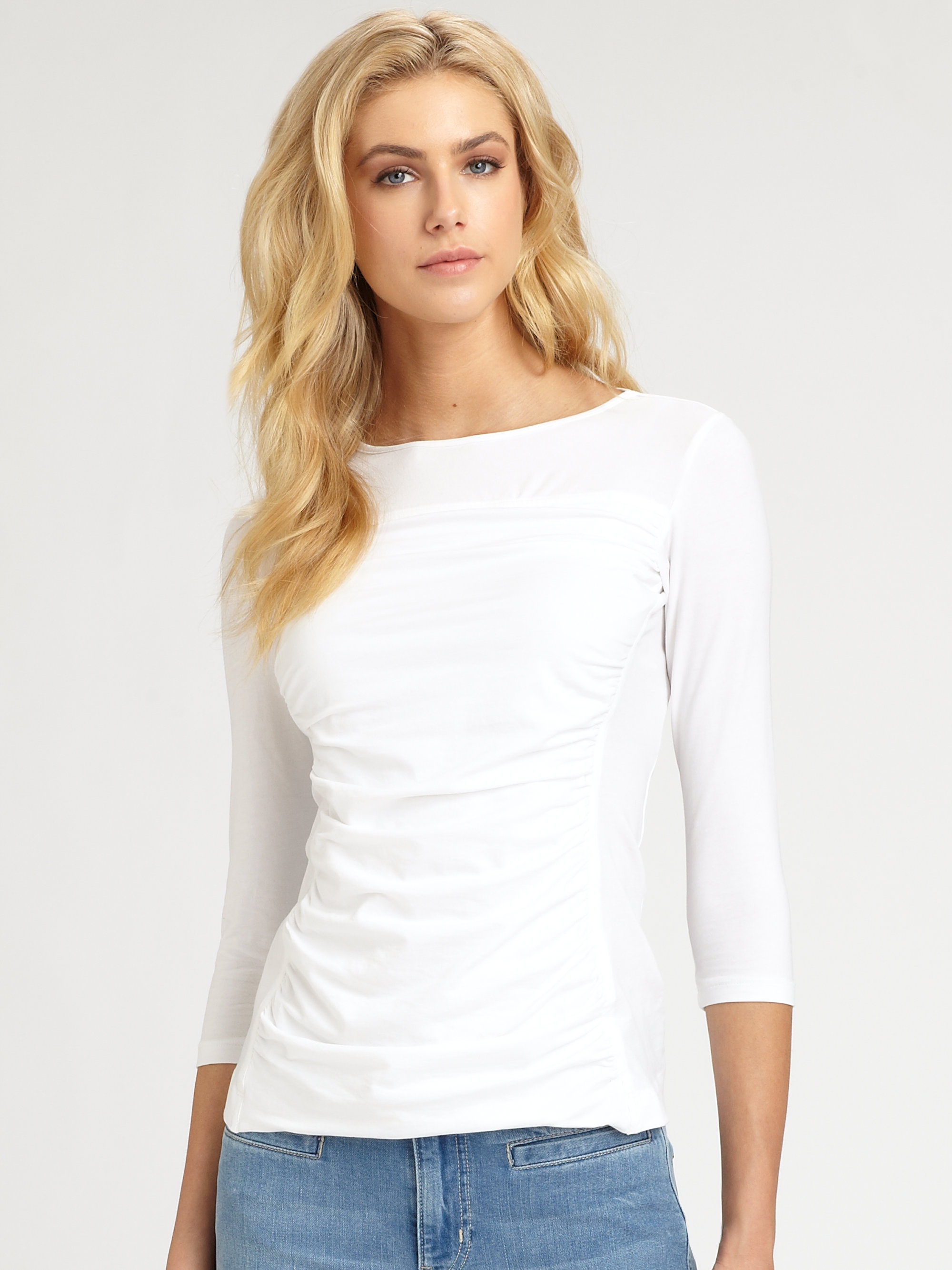 Theory White Blouse